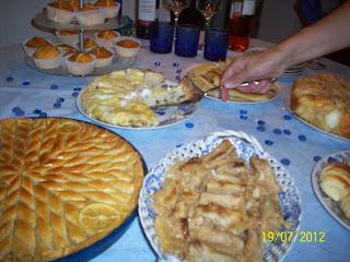 Serviranje slatkog stola