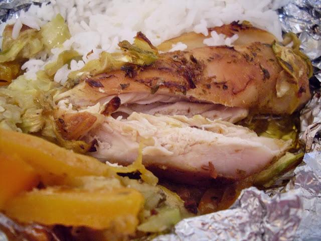Piletina sa povrćem u foliji