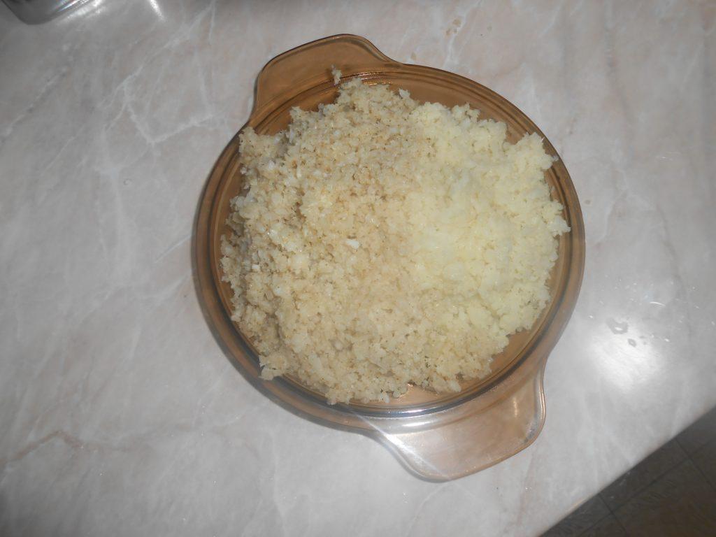 Dinstani/ prženi seckani karfiol